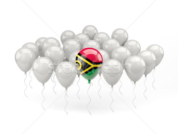 Ar balões bandeira Vanuatu isolado branco Foto stock © MikhailMishchenko