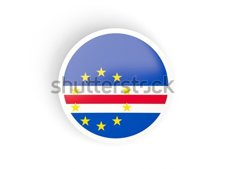 Round sticker with flag of cape verde Stock photo © MikhailMishchenko