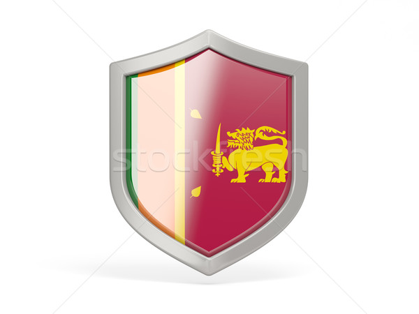 Shield icon with flag of sri lanka Stock photo © MikhailMishchenko