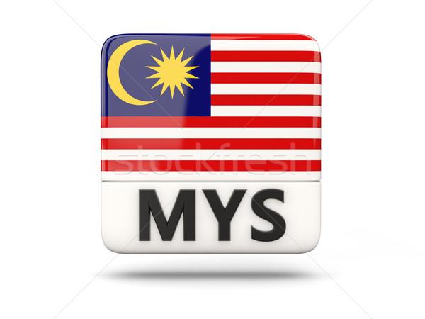Square icon with flag of malaysia Stock photo © MikhailMishchenko