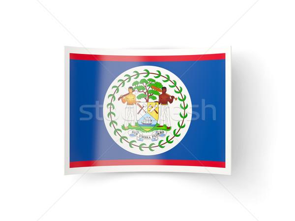 Ikon zászló Belize izolált fehér vidék Stock fotó © MikhailMishchenko