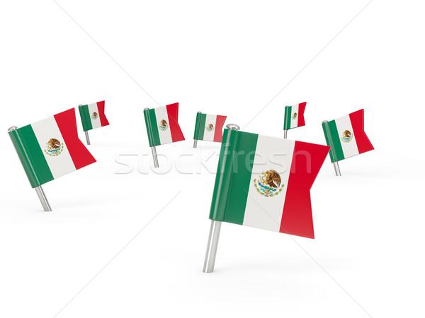 広場 フラグ メキシコ 孤立した 白 国 ストックフォト © MikhailMishchenko