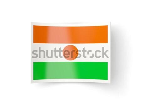 Bent icon with flag of niger Stock photo © MikhailMishchenko