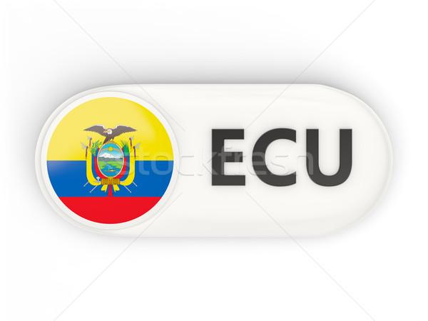 Ikon zászló Ecuador iso kód vidék Stock fotó © MikhailMishchenko
