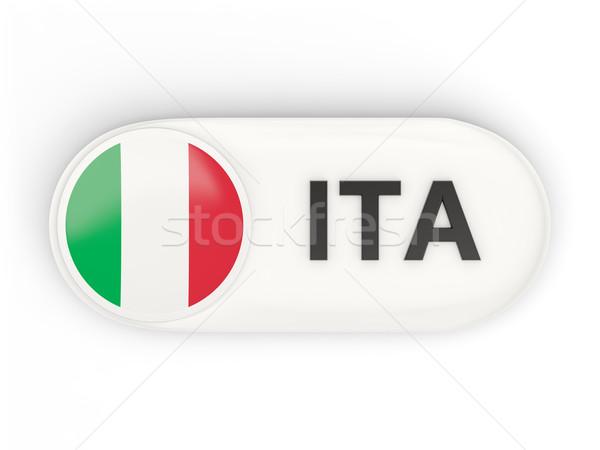 Round icon with flag of italy Stock photo © MikhailMishchenko