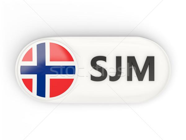 Round icon with flag of svalbard and jan mayen Stock photo © MikhailMishchenko