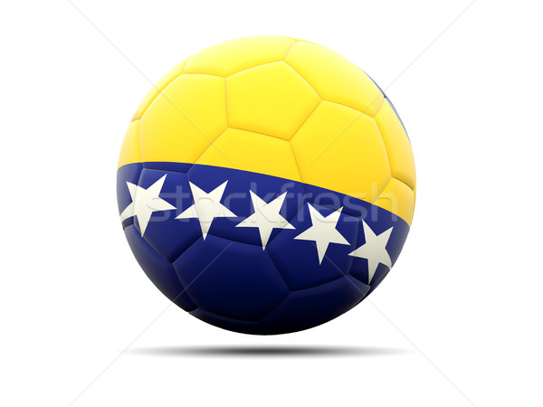 Fútbol bandera Bosnia Herzegovina 3d fútbol deporte Foto stock © MikhailMishchenko