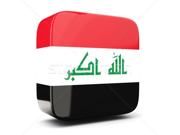 Stock fotó: Tér · ikon · zászló · Irak · 3d · illusztráció · izolált