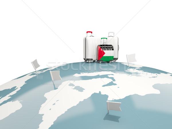 Csomagok zászló terület három szatyrok felső Stock fotó © MikhailMishchenko