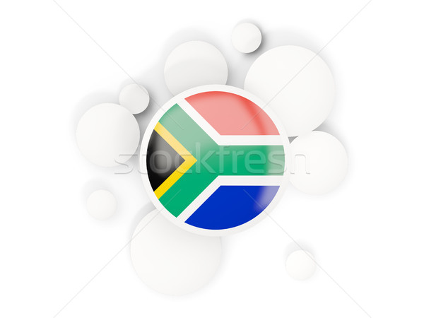 Round flag of south africa with circles pattern Stock photo © MikhailMishchenko