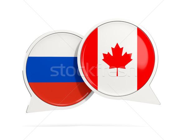 чате пузырьки Россия Канада изолированный белый Сток-фото © MikhailMishchenko