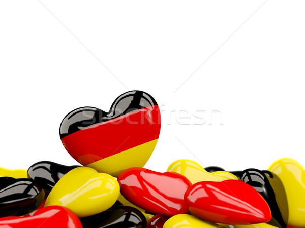 Heart with flag of germany Stock photo © MikhailMishchenko