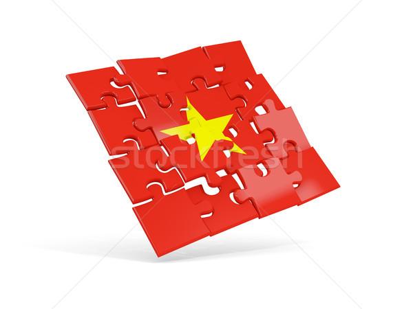 Puzzle zászló Vietnam izolált fehér 3d illusztráció Stock fotó © MikhailMishchenko