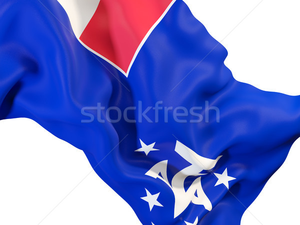 Waving flag of french southern territories Stock photo © MikhailMishchenko