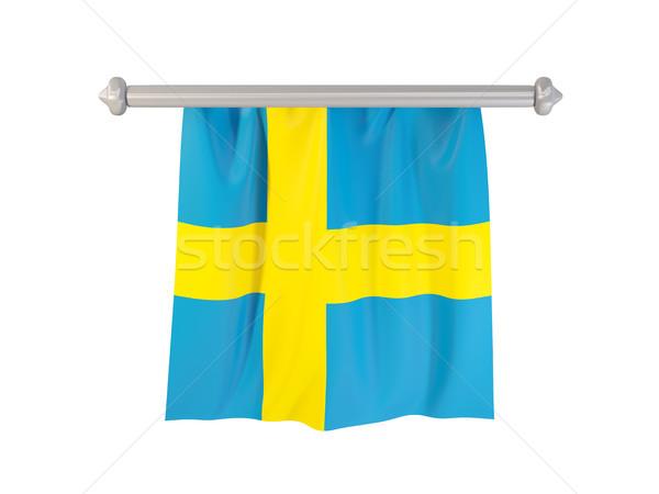 Bandiera Svezia isolato bianco illustrazione 3d etichetta Foto d'archivio © MikhailMishchenko