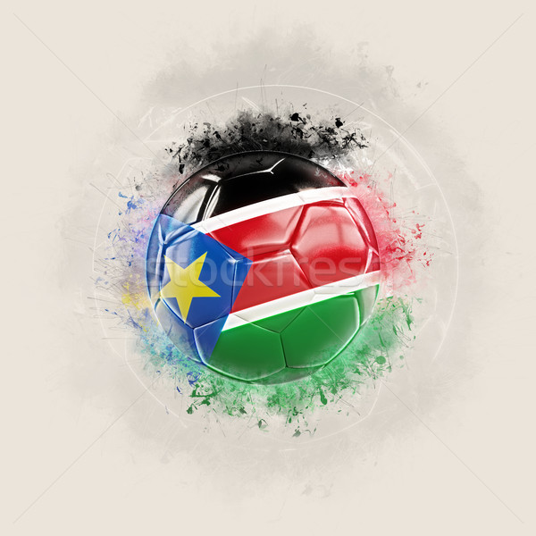 Grunge football with flag of south sudan Stock photo © MikhailMishchenko