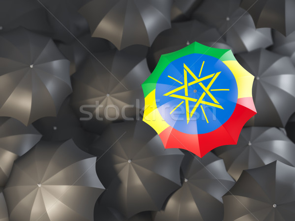 Umbrella with flag of ethiopia Stock photo © MikhailMishchenko