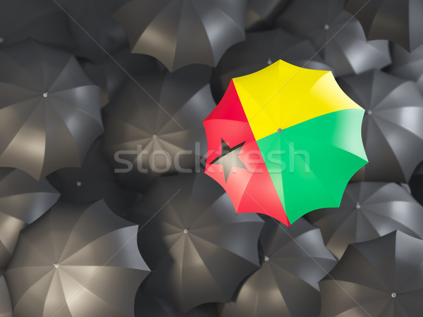 Umbrella with flag of guinea bissau Stock photo © MikhailMishchenko