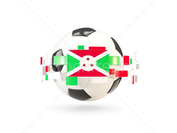 футбольным мячом линия флагами флаг Бурунди Сток-фото © MikhailMishchenko