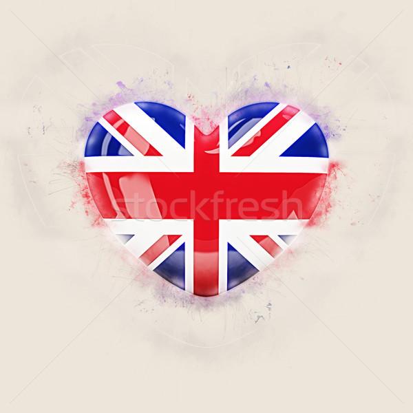 Cuore bandiera Regno Unito grunge illustrazione 3d amore Foto d'archivio © MikhailMishchenko