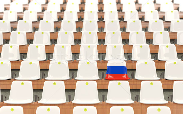стадион сиденье флаг Россия белый Сток-фото © MikhailMishchenko