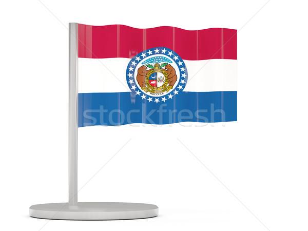 Flag pin with flag of missouri. United states local flags Stock photo © MikhailMishchenko