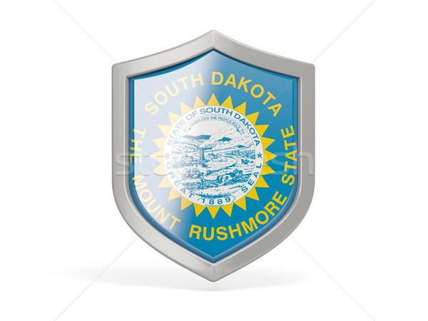 Pajzs ikon zászló Dél-Dakota Egyesült Államok helyi Stock fotó © MikhailMishchenko