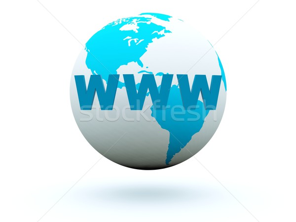 World wide web on earth Stock photo © MikhailMishchenko