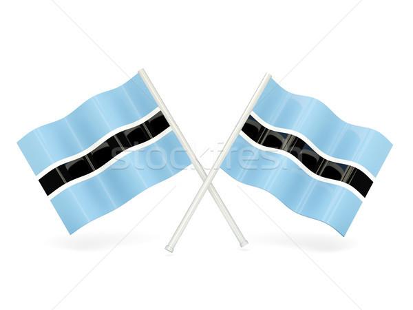 Bandera Botswana dos ondulado banderas aislado Foto stock © MikhailMishchenko