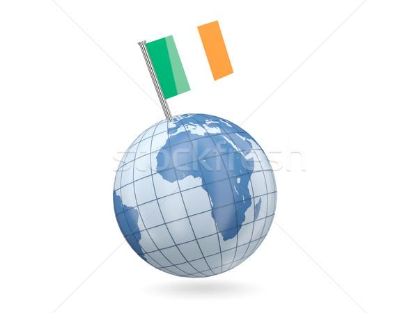 Globe with flag of ireland Stock photo © MikhailMishchenko