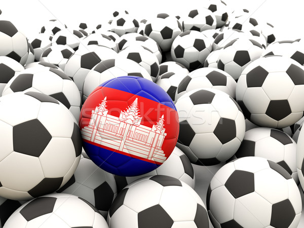 Football with flag of cambodia Stock photo © MikhailMishchenko