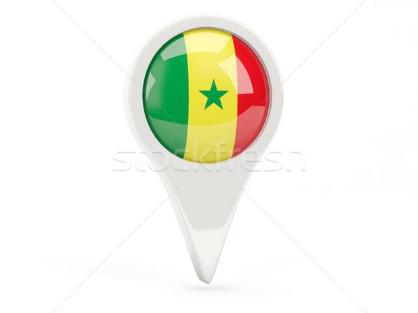 フラグ アイコン セネガル 孤立した 白 地図 ストックフォト © MikhailMishchenko