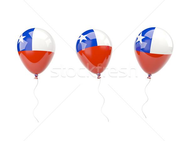 Levegő léggömbök zászló Chile izolált fehér Stock fotó © MikhailMishchenko