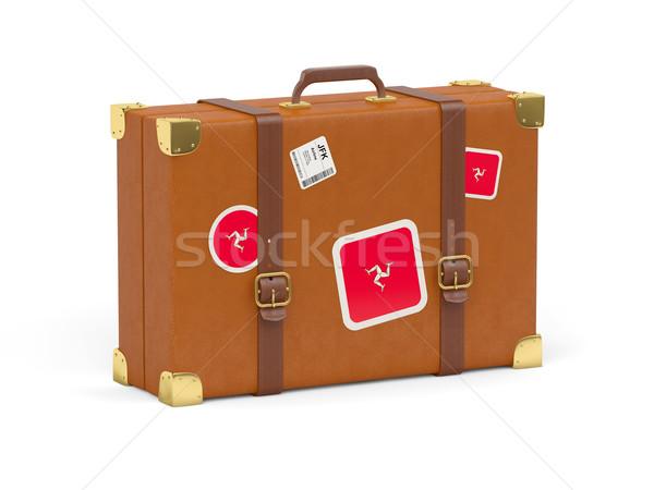 Suitcase with flag of isle of man Stock photo © MikhailMishchenko