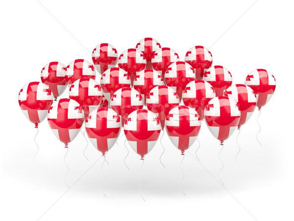 шаров флаг Грузия изолированный белый стране Сток-фото © MikhailMishchenko
