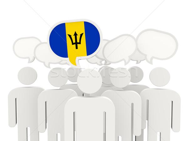 人 フラグ バルバドス 孤立した 白 会議 ストックフォト © MikhailMishchenko