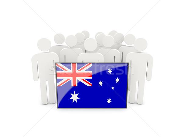 People with flag of australia Stock photo © MikhailMishchenko