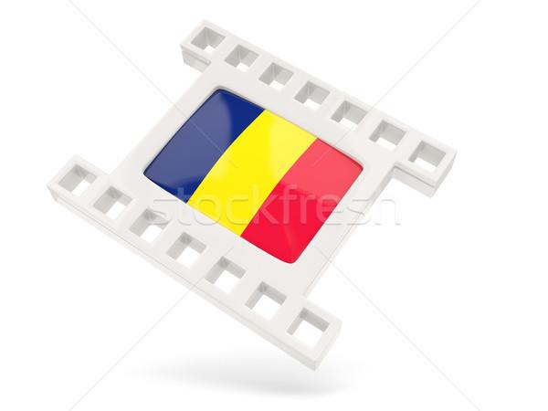 Película icono bandera Chad aislado blanco Foto stock © MikhailMishchenko