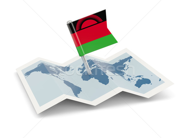 Map with flag of malawi Stock photo © MikhailMishchenko