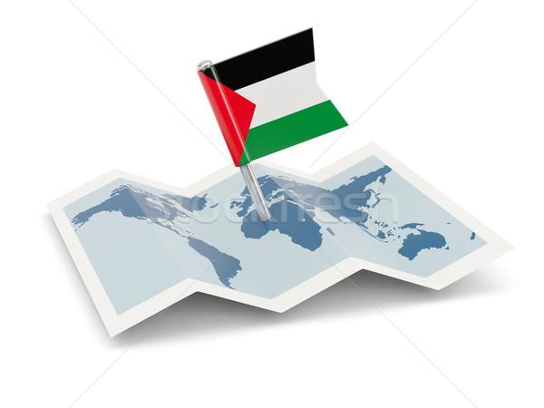 Térkép zászló terület izolált fehér Stock fotó © MikhailMishchenko