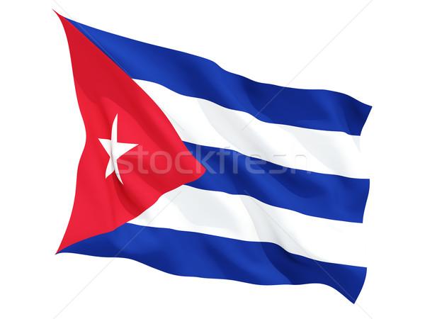 Integet zászló Kuba izolált fehér Stock fotó © MikhailMishchenko