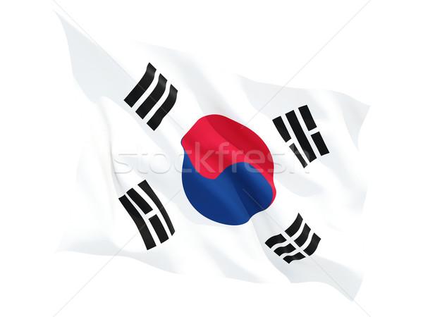 Waving flag of south korea Stock photo © MikhailMishchenko