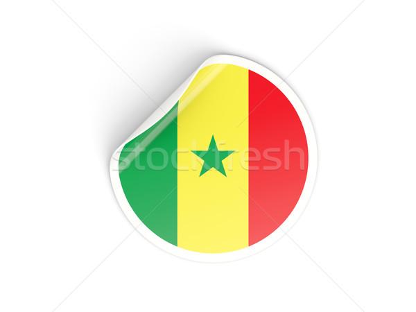 ステッカー フラグ セネガル 孤立した 白 旅行 ストックフォト © MikhailMishchenko