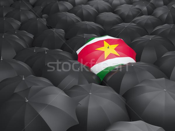зонтик флаг Суринам черный дождь Сток-фото © MikhailMishchenko