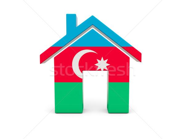 домой флаг Азербайджан изолированный белый поиск Сток-фото © MikhailMishchenko