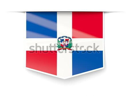 Flag label of dominican republic Stock photo © MikhailMishchenko