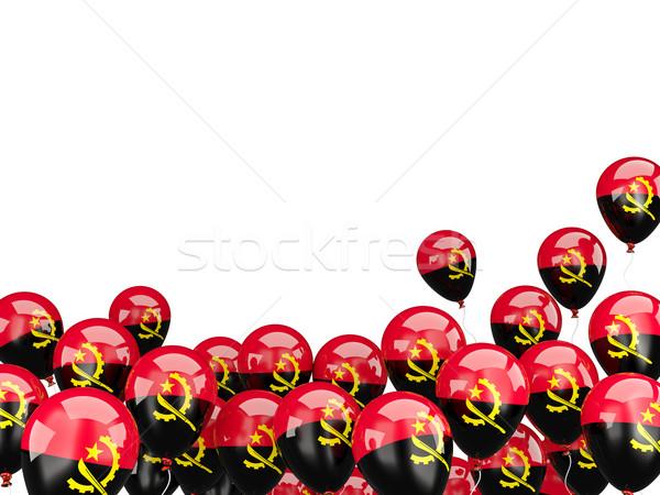 Flying шаров флаг Ангола изолированный белый Сток-фото © MikhailMishchenko