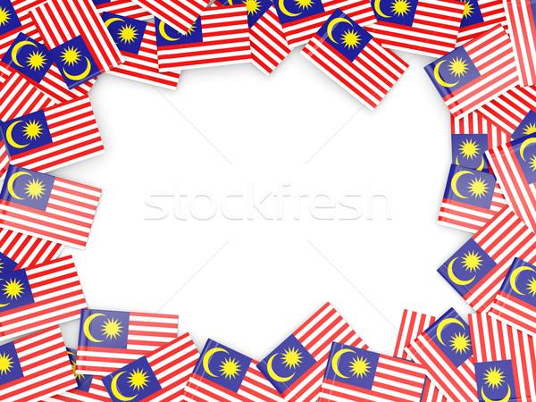 Quadro bandeira Malásia isolado branco Foto stock © MikhailMishchenko