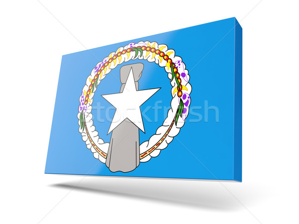 Square icon with flag of northern mariana islands Stock photo © MikhailMishchenko