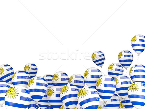 Сток-фото: Flying · шаров · флаг · Уругвай · изолированный · белый